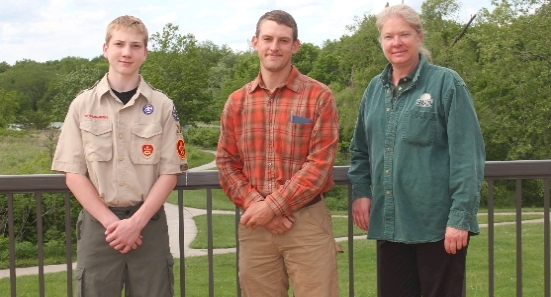 Tim Konfrst receives $500 from BBAS for Eagle Scout Project- invasive species display and boot scrapers.